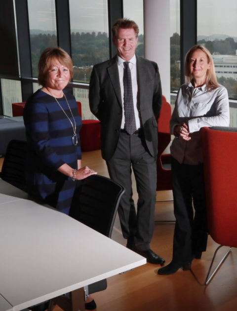 EICC and  Bio Quarter 1 SA :  BioQuarter Edinburgh   Marshall Dallas CEO EICC with Anna Stamp  Director of Edinburgh BioQuarter and Emma Chapman Finance Director for Calcivis.   Picture by Stewart Attwood   All images © Stewart Attwood Photography 2019.  All other rights are reserved. Use in any other context is expressly prohibited without prior permission. No Syndication Permitted.
