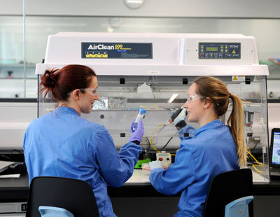 Scientists at work at LifeArc (formerly Medical Research Council Technology), BioQuarter Edinburgh.  Taken 22-02-2018