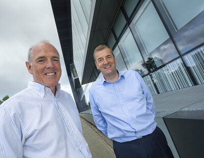 Calcivis CEO (Adam Christie) and new Chair (John Stark) For more information see press release Pic: Peter Devlin